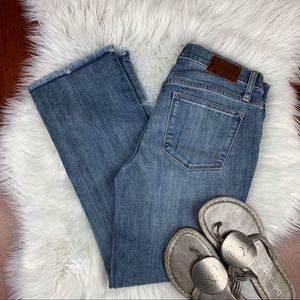Henry & Belle Cropped Straight Distressed Jeans 27